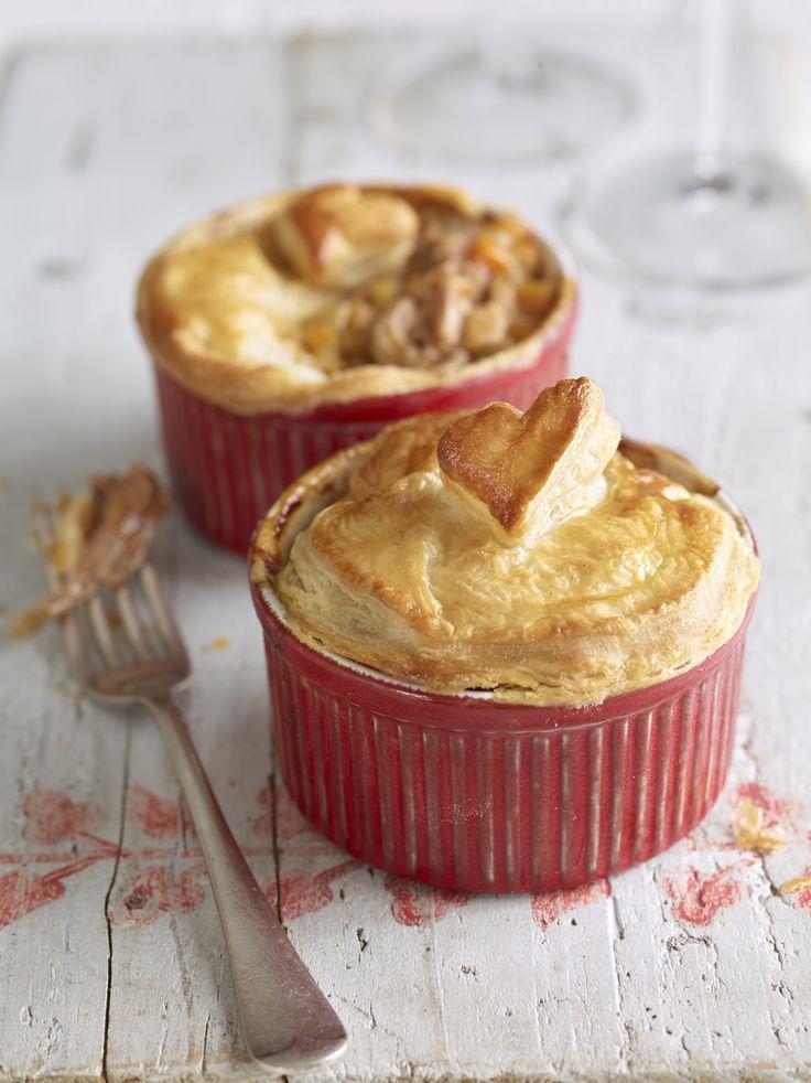 Valentine's Day Pulled Pork Pot Pies