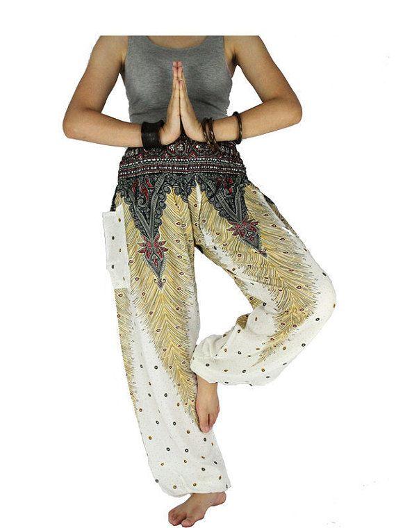 Peacock broek Unisex broek Hippie kleding olifant door SalwarPants