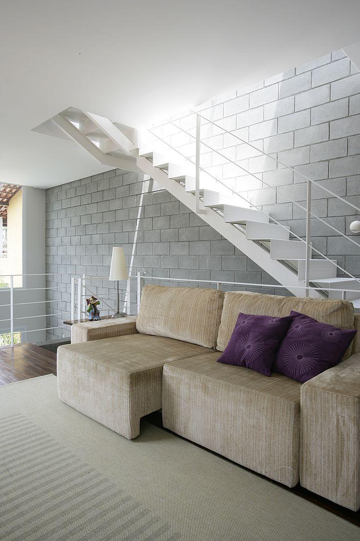 Blocos de concreto bloco de concreto pinterest for Escaleras de cemento para interiores
