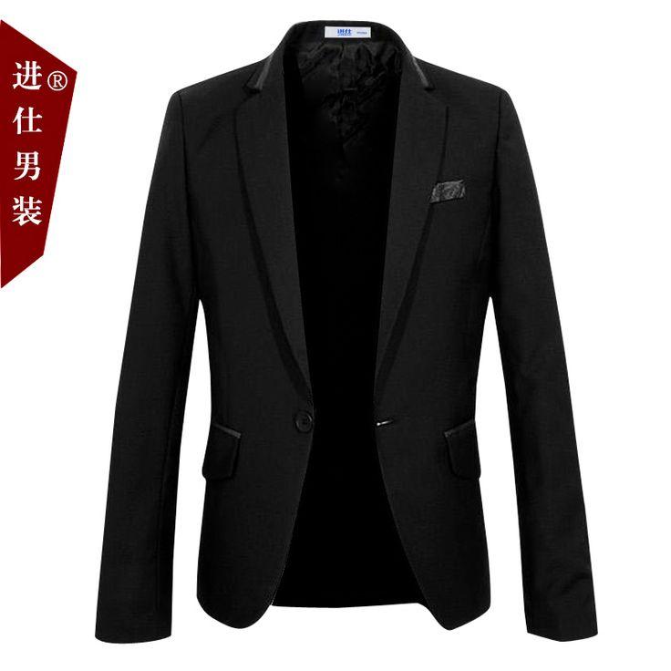 Черный / синий мужчины один пуговица костюм приталенный свободного покроя костюм куртка мужской костюм пиджак мужчины большой блейзер пиджаки вилочная часть костюм S-XXL D2277