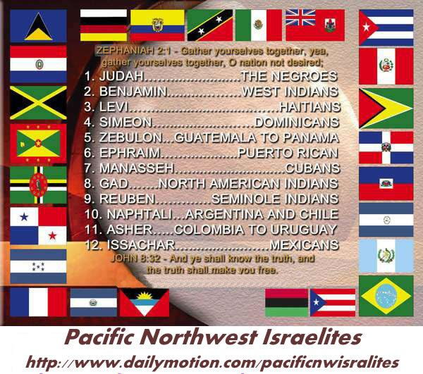12 TRIBES OF ISRAEL NOW NEGROES LATINOS AND NATIVE