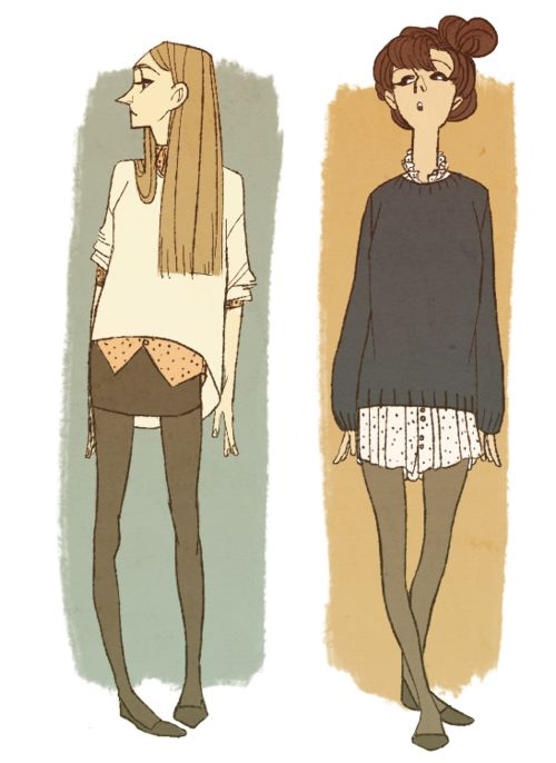 """""""the anatomy is terrible but I still kind of like it so what the hell  I enjoy drawing pretty girls wearing clothes from my wardrobe haha.."""" by Boenne"""