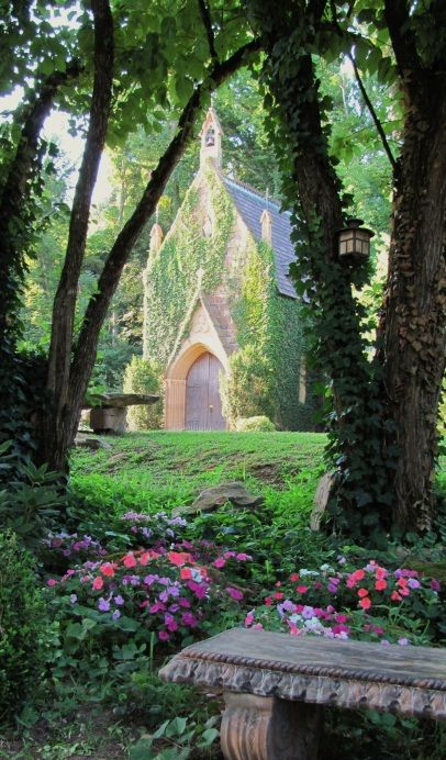 St. Catherine's at Bell Gable. Fayetteville, AR: Secret Gardens, Belle Gables, Dreams, Fayettevill Arkansas, Old Church, Beautiful Places, Churches, Fairytale, Fairies Tales