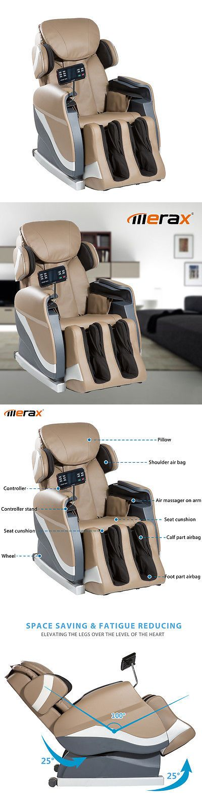 Electric Massage Chairs: Merax Electric Full Body Shiatsu Massage Chair Foot Roller Recliner W/Heat BUY IT NOW ONLY: $569.75