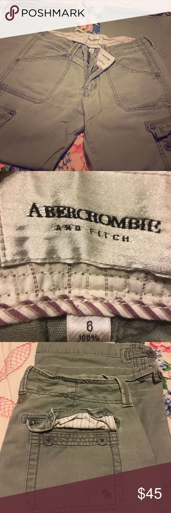 Abercrombie and Fitch size 6 olive green Olive green khaki pants Abercrombie & Fitch Pants Trousers