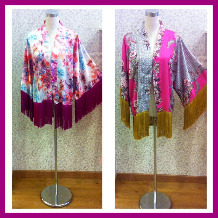 Kimonos flecos de seda