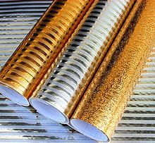 Бесплатная доставка алюминиевая фольга бумага стикер мебель золота серебра геометрические водонепроницаемый кухонного шкафа водонепроницаемый 3d обои(China (Mainland))
