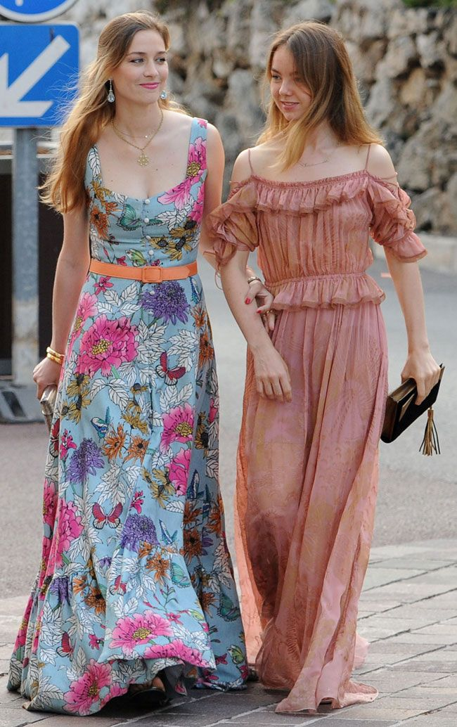 Beatrice Borromeo and Princess Alexandra of Hannover arrive for the fashion design award presentation ceremony held within the scope of the MC Fashion Week 2017 (MCFW17) at Oceanografisch Museum on 2 June 2017in Monte-Carlo, Monaco