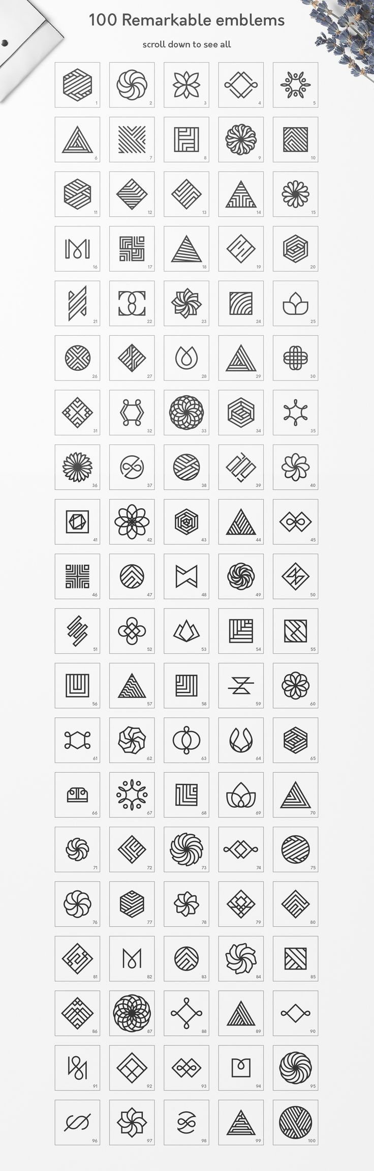 Geometric Logos vol.3 by Davide Bassu on @creativemarket