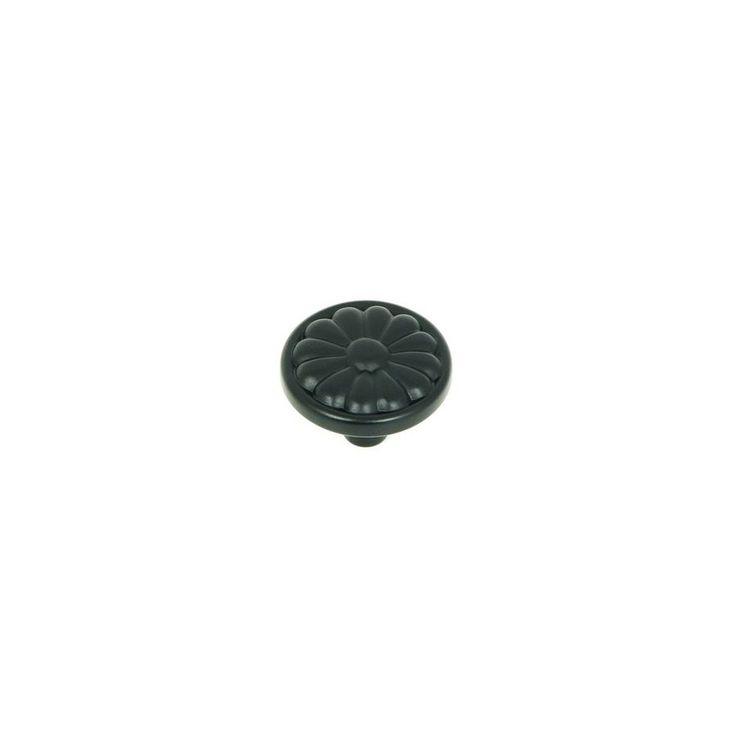 Stone Mill Hardware Cornell Matte Black Round Cabinet Knob