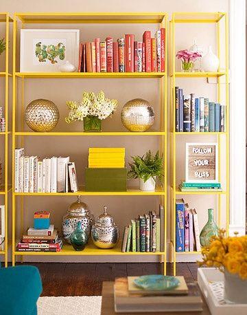 Great bookshelf styling tips