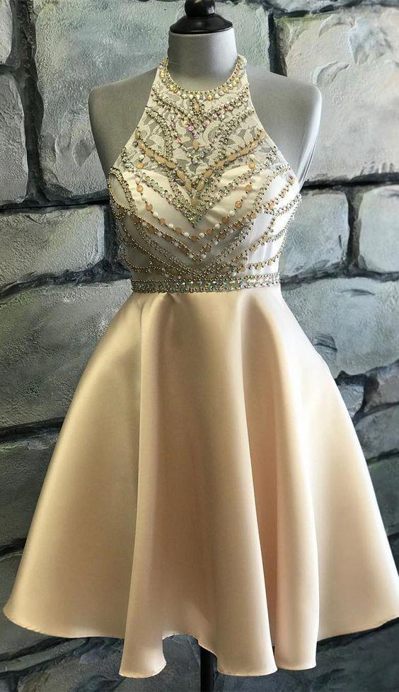Cute halter homecoming dress ea4084f5a