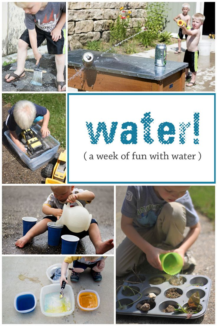 Water and ice activities summer camp at home with 12 weeks of easy - A Week Of Water Activities For Kids