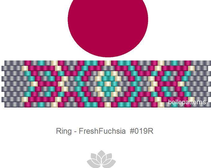 peyote ring pattern,PDF-Download, #019R, beaded ring pattern, beading tutorials, ring pattern