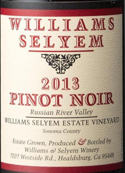 2013 Williams Selyem Pinot Noir Estate Vineyard