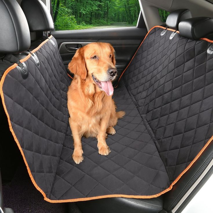 Environmental Dog Car Seat Cover Patented TPU Hammock Pet With Non Slip BackingOrange Trim And Waterproof Tried It