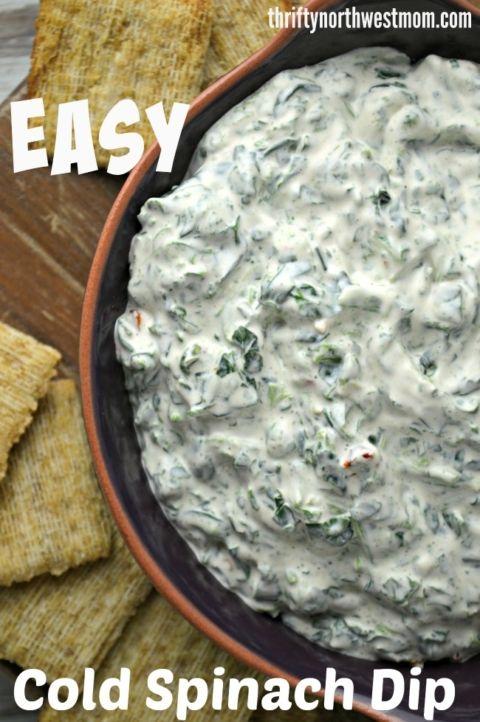 Easy Cold Spinach Dip Recipe