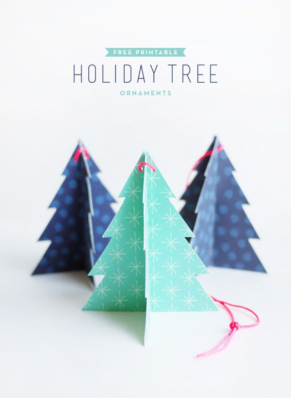 Printable Holiday Tree Ornaments