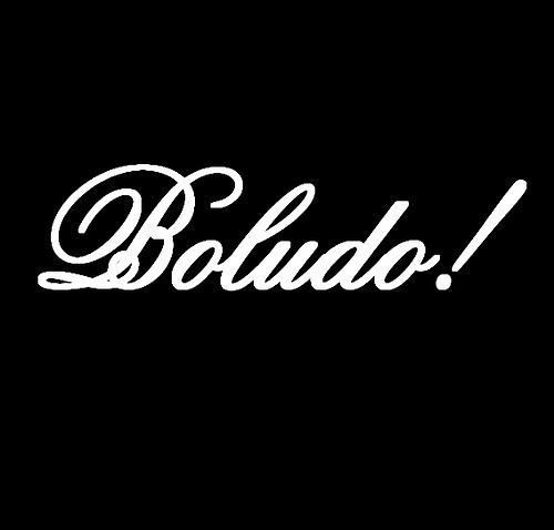 Popular insulto argentino: Boludo (gilipollas)