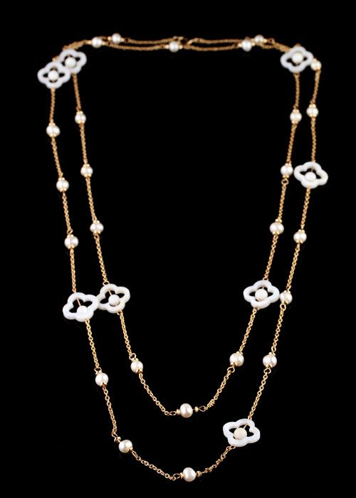 Gold Alloy Necklace With Natural Shell  - New In