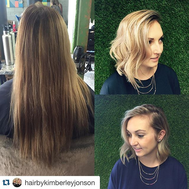 Lob, before and after, wavy, ombre hair , olaplex,blonde   we love a change ✨  @hairbykimberleyjonson with @repostapp. ・・・ Love a big change. #olaplex #blonde #lob #sunshinecoasthairdresser @olaplex @rocaverde #hairpainting #haircolor @delorenzo_haircare @olaplexau