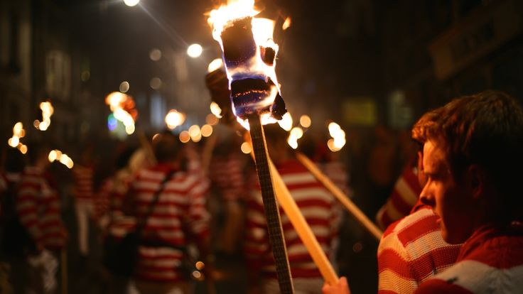 LEWES BONFIRE. Nov 05, 2015. Lewes, United Kingdom. Guy Fawke's Day, or Bonfire Night, is traditional throughout the UK, but in Lewes the celebration reaches new heights.