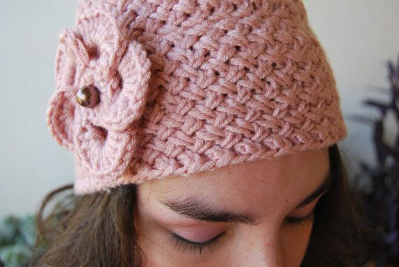 Light Pink Hat Hand Knit Hat Lady's Hat Crochet by ManibusFacta