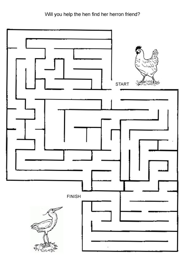 Hard Maze Games to Print | Free Online Printable Kids Games - Bird And Chook Maze