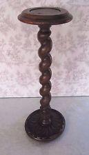 старинный французский ячмень Twist вырезанная из дерева дуб пьедестал стойка завода ТУМБОЧКА