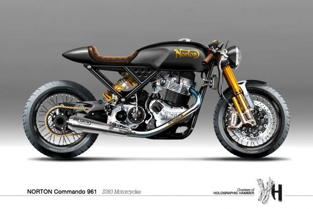 Holographic Hammer #Norton Commando 961 // S383 Motorcycles // Absolutely stunning bike