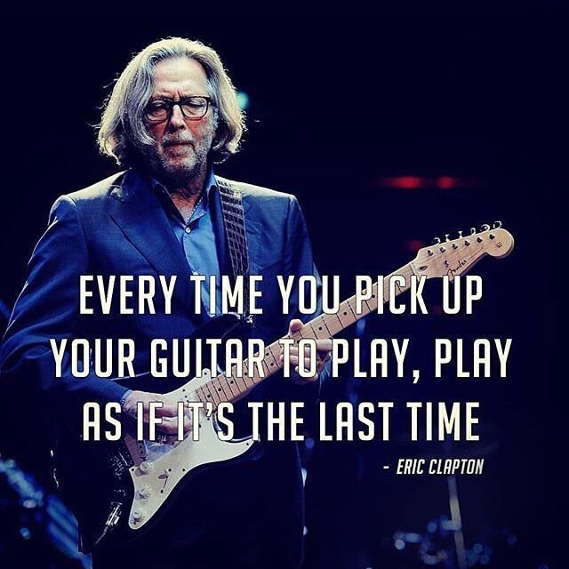 A little wisdom for ya from sir Slowhand...   Create your custom string set… - more on www.guitaristica.org #guitartutorials #guitarlessons #guitars #guitaristica