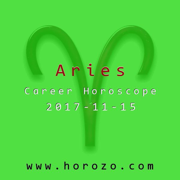 Aries Career horoscope for 2017-11-15: Today should play right to your greatest strengths: your reliability and ambitious follow-through. Tackle new ideas and projects with enthusiasm, and don't get distracted by side issues or competing coworkers..aries