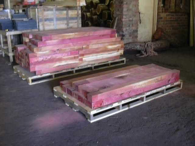 Pink Ivory planks