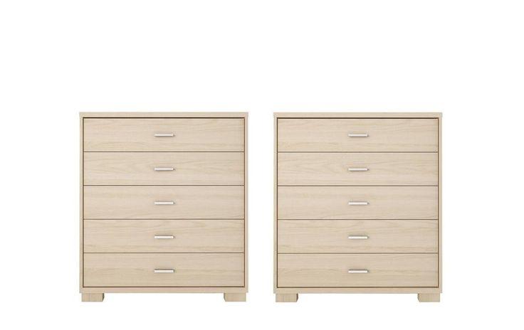 Manhattan Comfort Astor 2-Piece Bedroom Dresser Set