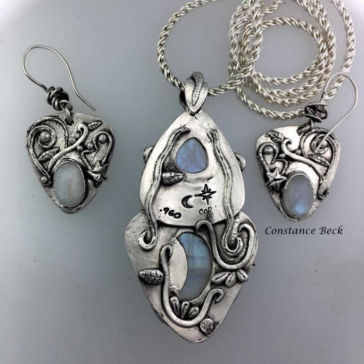 Aussie Metal clay by Constance Beck .999 silver set