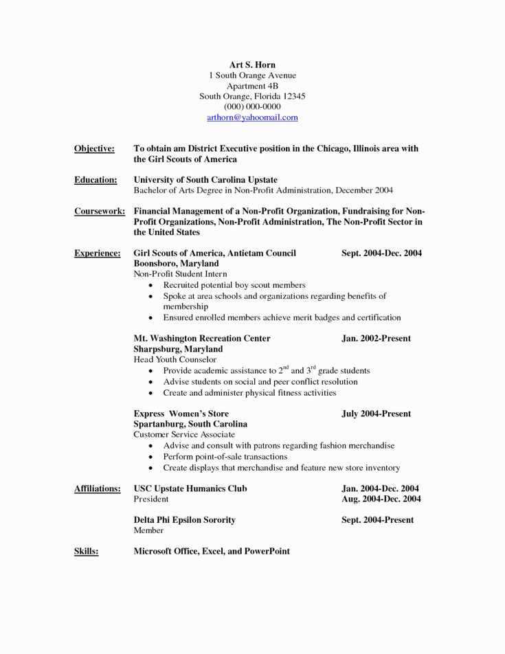 23 non profit resume examples in 2020 chronological