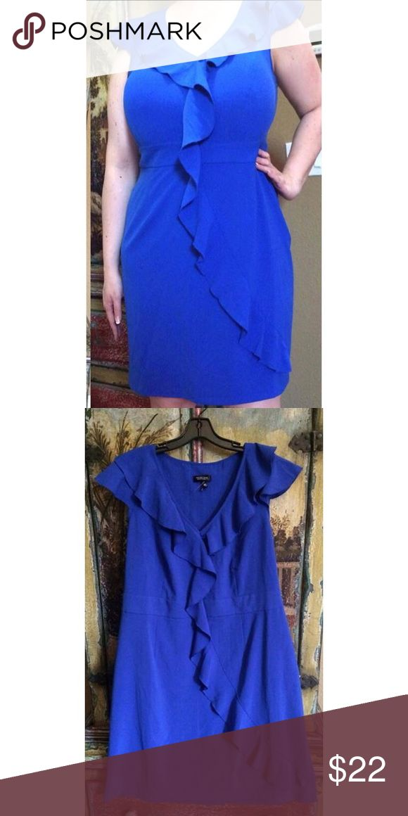NEW blue plus size dress 2x 20 20w 22 cocktail Tag size 20w (would probably also fit 22 comfortably).  New - never worn - Spense Woman blue dress with side zipper. So feminine.   Poly/Rayon/Spandex  Up to 56 Bust 46-48 Waist Up to 58 Hips 42 Length 6 inch slit in back  Loc: G-4-2 Dresses