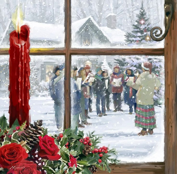 Christmas Carolers Singers Vintage Decorations By: 17 Best Images About Christmas Art Richard Macneil On