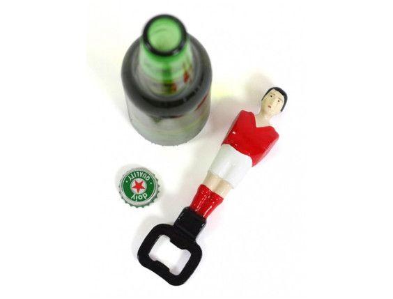 Foosball bottle opener