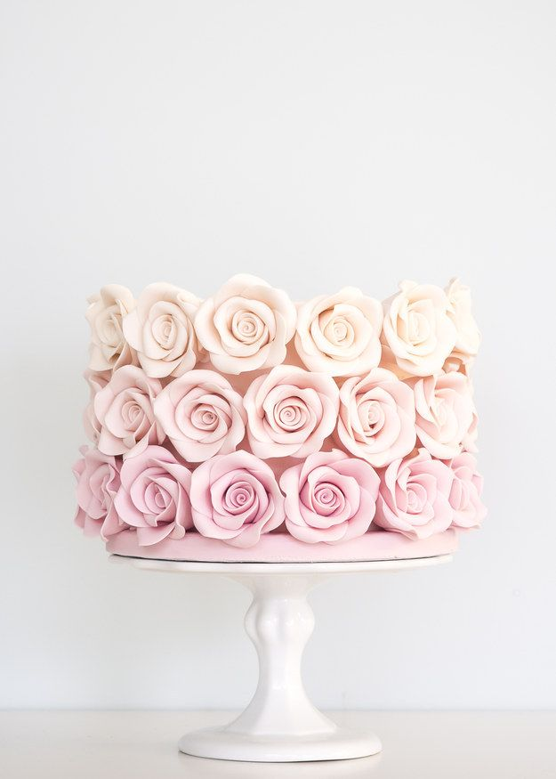 Cakes with Ombre Flowers                                                                                                                                                                                 More