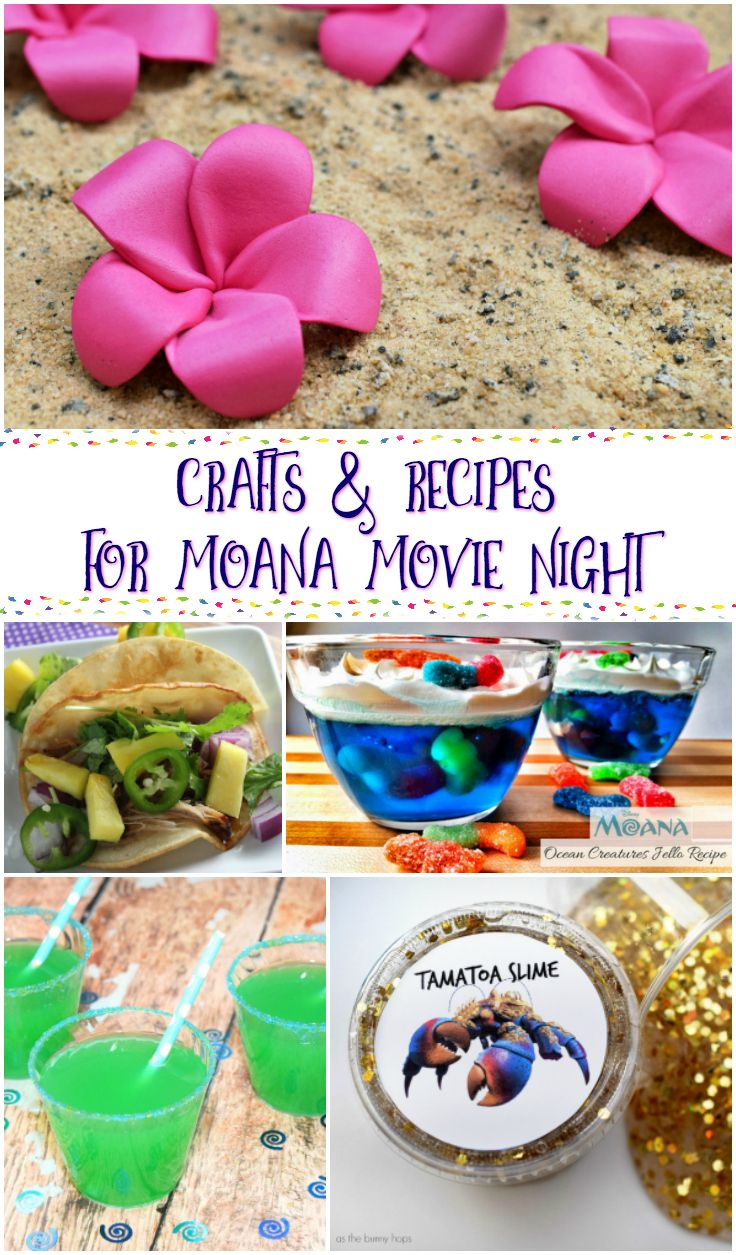Moana Crafts and Recipes for the Best Movie Night via @jennifersoltys