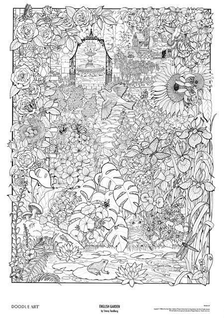 画像 : 【大人のぬりえ】細かいフラワーお花ガーデン庭の無料 テンプレート - NAVER まとめ
