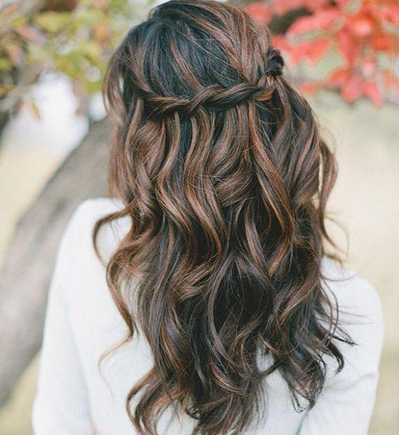 Wasserfall Zopf Hochzeit Haar Hair Nails Makeup Lockige