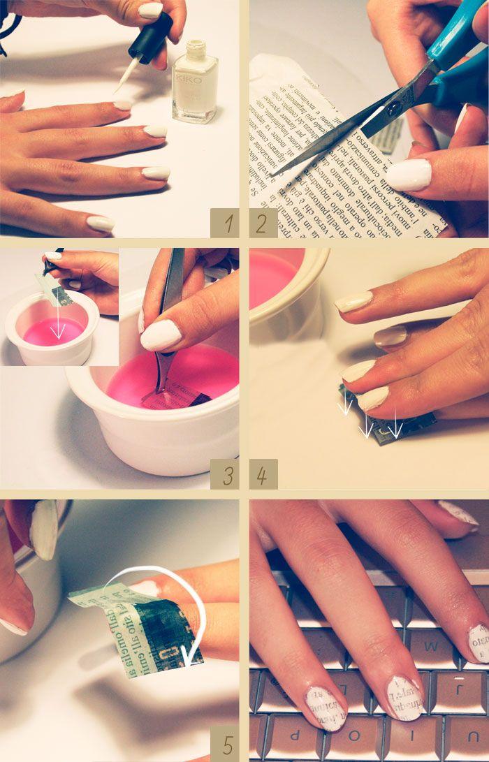 'printed' nails