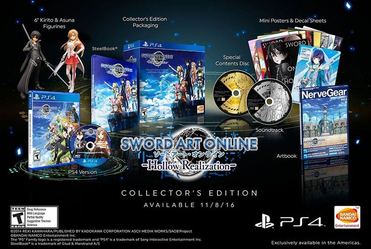 Sword Art Online Hollow Realization Collectors Edition Bandai PS4 - PREORDER