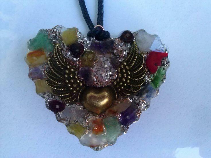 corazon alado multicolor