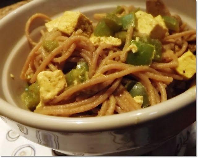 Caril de tofu mexido / Tofu curry