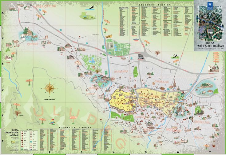 Bursa map oh historical places to visit