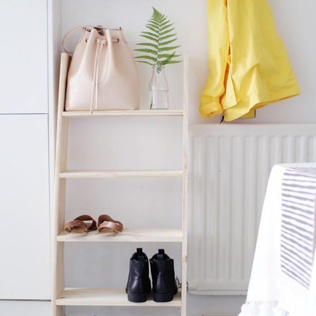 Rangement à chaussuresdéco par @designsponge - Marie Claire Idées - how to store shoes ?