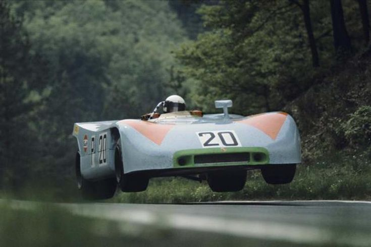 Redman lifts off. 1970 Nurburgring 1000km.